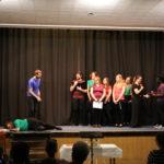 Schauspielszene auf der Bühne